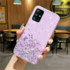 For Samsung A21S S20 FE Note 20 A51 A71 A20S Glitter Clear Silicone Case Cover