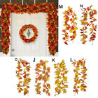 175cm Halloween Decor Fall Door Autumn Color Maple Leaf Garland Hanging Plant