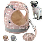 Soft Fabric Mesh Small Dog Vest Harness and Leash Reflective Pomeranian Yorkie