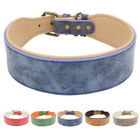 "2"" Wide Soft Velvet Leather Padded Pet Collars for Medium Large Dogs Rottweiler"