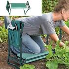 Portable Garden Kneeler & Seat Foldable Stool w/Tool Pouch for Gardening