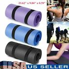 Yoga Mat Non-Slip 15mm Pad Sport Home Workout Pilates Gym Exercise Fitness Short