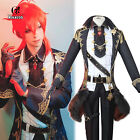 Genshin Impact Diluc Cosplay Costume Mens Full Suit Halloween Party Outfit