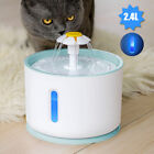 2.4L Automatic Cat Feeder Dog Pet Water Dispenser Electric Fountain w/ Filter
