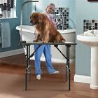"""36"""" Hydraulic Dog Cat Pet Grooming Table Tray Folding Adjustable Arm Noose Mesh"""