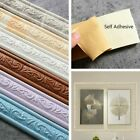 5pcs Self-adhesive Floral Wall Stickers Home Balcony Border Door Frame Decor