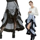 Vintage Gathered Victorian Lady Steampunk Gothic Theater Costume Bustle Skirts
