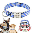 Soft Fabric Personalised Pet Collars for Small Medium Large Dogs Custom ID Name