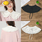 Womens Lace Collar Detachable Lapel Choker Necklace Shirt Fake False Collar US