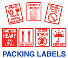 FRAGILE Stickers - Large 80 x 103mm - THIS WAY UP - Packaging stickers / Labels