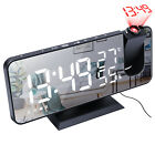 LCD LED Digital Time Projector Projection FM Radio Snooze Alarm Clock Dual Alarm