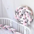 Baby Crib Bumper Thicken Pad Breathable Soft Cotton Nursery Toddler Bed Protect