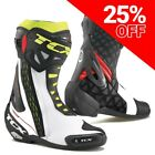 TCX RT-Race Motorcycle / Motorbike Boots White/Red/Yellow
