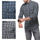 Mens 100 Cotton Point Zero Checked Shirt Casual Long Sleeve Top Sz S-XL