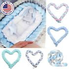 Infant Crib Baby Bed Bumper Soft Knot Cushion Pillow Protector Fence Home Decor