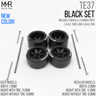 Hot Wheels TE37 DEEP DISH Real Riders Wheels and Tires Set for 1/64 Scale