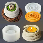 Silicone Spiral Snake Candlestick Resin Epoxy Mold Candle Holder Ornament Mould