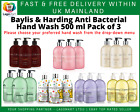 Baylis & Harding Hand Wash Body Lotion Gift Sets Moisturising 500ml x pack of 3