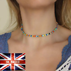 Necklace Choker String Beaded Strand Women Men Jewelry Elegant Cute Gift Uk