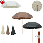 Parasol With Steel Pole 1.8m-3m Anthracite/Sand/Taupe Outdoor Umbrella Sunshade
