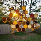 Colorful Bee Honeycomb Wall Hanging Crafts Window Pendant Ornaments Home Decor
