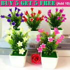 Artificial Fake Plants Flowers With Pot Garden In/outdoor Hotel Home Grave Decor