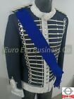 New Steampunk Ceremonial Military Hussars Parade jacket With Sash & Epaulettes