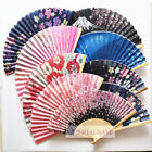 Japanese Style Bamboo Silk Folding Hand Fan For Show / Home Display/Wedding Gift