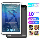 """10"""" WiFi/4G-LTE Tablet PC Android 9.0 Pad 6 128GB with Dual SIM Triple Cameras"""