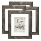 4PCS 8x10 Wood Photo Frame Set Wall Mounted Tabletop Picture Frames Home Decor