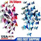 24x/36x 3d Butterfly Wall Stickers Pvc Children Room Decal Home Decoration Decor