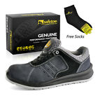 SAFETOE Mens Safety Shoes Work Boots Leather Breathable Lightweight Sneakers GY