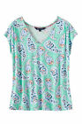 New Crew Clothing Womens V Neck Elly Top in Peppermint