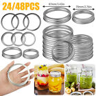 24/48PCS Replacement Rings For Mason Jar Canning Regular/Wide Mouth w/Screw Band