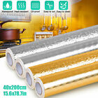 Self Adhesive Oil Proof Waterproof Aluminum Foil Kitchen Wall Sticker Home Decor