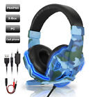 Gaming Headset Stereo Bass Surround 3.5mm headphone with Mic for PS4/Xbox One/PC