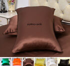 2 pcs 22MM 100% Silk Pillowcases Side Zipper Closure Standard Queen King