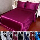 4pcs 22MM Jacquard Silk Duvet Cover Fitted Sheet Pillow shams Set Black All Size