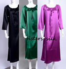 WOMEN LADIES 19MM 100% Silk Charmeuse Night Gown Sleepwear Robe One Size AS1192