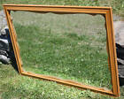 Ethan Allen Solid Maple Nutmeg Blonde Scalloped Hanging Mirror