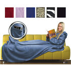 CUDDLE FLEECE SNUG BLANKET W SLEEVES SNUGGLE RUG BOXED