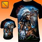 Wolf Horse Biker Native American Indian Tattoo T Shirt