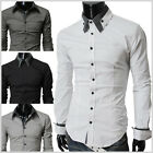 THELEES Mens premium casual unique long sleeve dress shirts collection