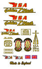 1950-63: BSA Golden Flash Decals-A10 GOLDEN FLASH DECALS
