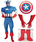 Captain America Adult Costume Shield Boot Covers Gloves