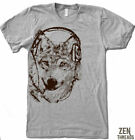 Mens WOLF Headphones american apparel t shirt tee S-2XL