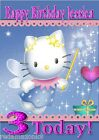 Cute Hello Kitty Personalised Birthday or Occasion Card A5 Size