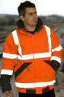 HI VIS VIZ EXECUTIVE BOMBER JACKET Railway GO/RT 3279 ORANGE  sizes S upto 4XL