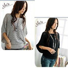 Hollow Batwing Dolman Knit Knitting Coat Out Boat Neck Sweater Top Cardigan #084