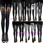 Black and White Print Women Rock Punk Funky Sexy Leggings Pants
